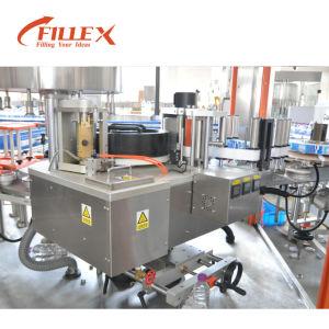 6000bph-10000bph OPP a cola quente derrete Rotulando as máquinas de rotulação do vaso da Máquina