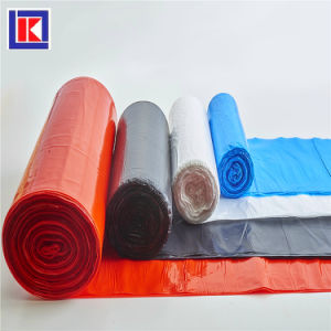 HDPEの平底のHDPEのロールのプラスチック屑のごみ袋