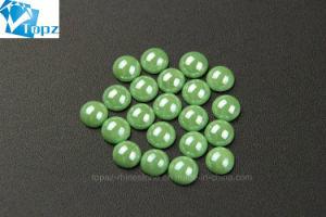 トパーズのHotfixのラインストーンは卸し売りするティーワイシャツ(馬力Erinite)のためのEriniteのラインストーンの陶磁器の真珠を