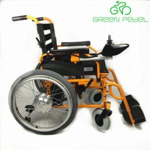 Sedia a rotelle elettrica piegante portatile alla moda di potere di Greenpedel con controllo della barra di comando