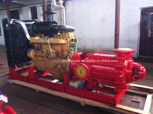 Pomp van het Water van de Brandbestrijding van de Dieselmotor van de Zuiging van het eind de Automatische