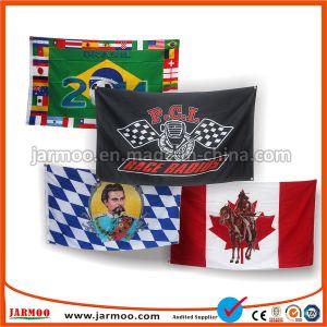 Custom дешевые наружной рекламы или цветной цифровой печати с термической возгонкой спорта футбол пользовательский флаг