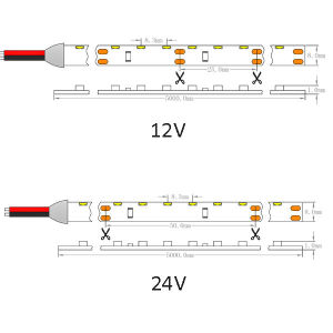 SMD CE UL335 Vista Lateral Flexível 120 LEDs/m faixa de LED Light