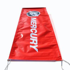 Impresión de pancartas de PVC al aire libre con una cuerda y el agujero rojo Logotipo