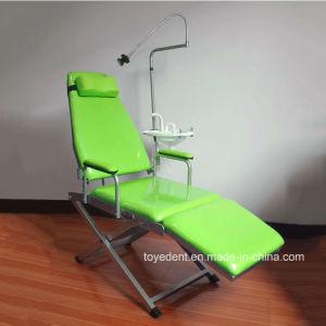 Portable utilizzato ospedale poco costoso che piega presidenza paziente dentale con la torcia elettrica