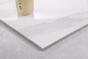 Kijkt het Witte Marmer van Calacatta van Foshan Tegel van de Bevloering van het Porselein de Ceramische en de Tegel van de Muur