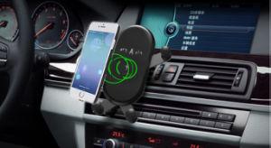 10W Cute быстрый беспроводной телефон автомобильное зарядное устройство для держателя сопла вентиляции ци телефоны зарядные устройства для зарядки (белый)