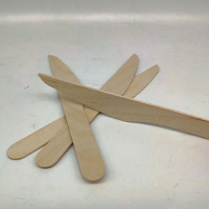 Personalizar biodegradáveis Mini sobremesa talheres faca de bolo de madeira descartáveis