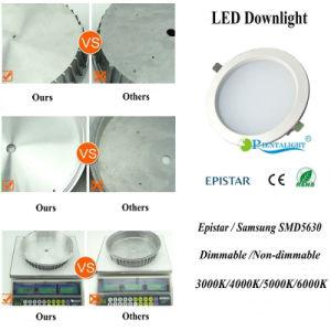 precio de fábrica regulable de 15W LED Empotrables luz abajo