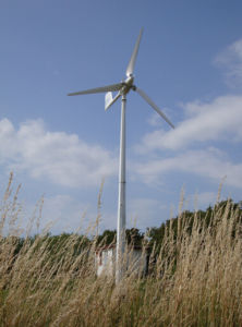 5kw Inicio Planta de Energía Eólica con el controlador y un inversor