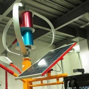 1kw Vertical Axis Wind Turbine Generator met Zonnepaneel