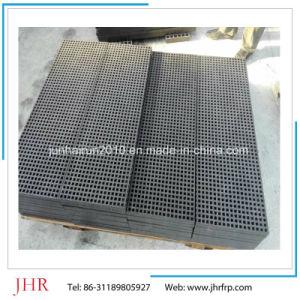 Plataforma de trabajo de rejilla de plástico reforzado con fibra de planta química