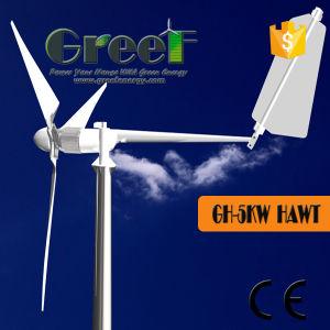 5kw a bajas revoluciones de la turbina de viento utilizados en el techo
