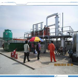 El reciclaje de residuos de aceite de lubricación de maquinaria de destilación