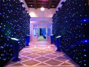 * 4m 6m de la estrella de LED blanco de tela para la etapa de la boda Evnets telón de fondo muestran