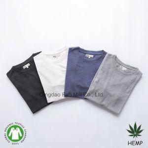 O algodão orgânico de cânhamo homens Eco-Friendly T-shirt gola redonda (MST-180)
