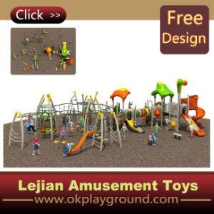 Campo de jogos ao ar livre do divertimento natural novo do projeto (X1241-7)