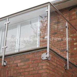 Met lica de acero inoxidable pasamanos de seguridad valla de vidrio con post de balc n - Vallas de acero inoxidable ...
