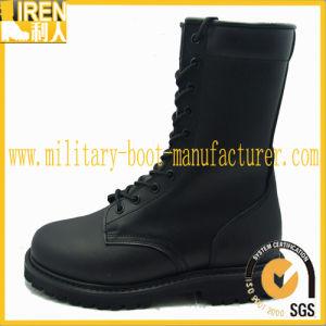 2017 Nuevo diseño de suela de caucho botas de combate militar baratos