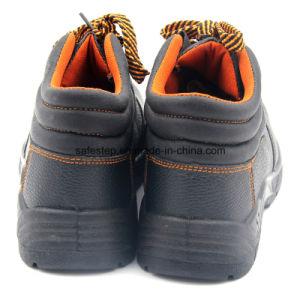 Cuero genuino acero barato Toe zapatos de trabajo