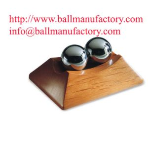 Sfere cinesi di Baoding di salute di meditazione con il basamento di legno su ordinazione