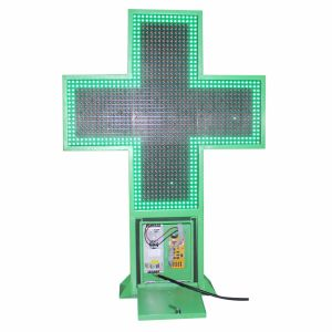 Outdoor Hight luminosité LED Croix de la pharmacie Affichage LED de couleur verte