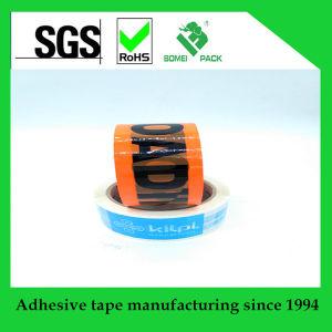 Cinta adhesiva impresa insignia de encargo para el empaquetado del rectángulo