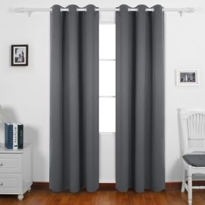 Janela de blecaute Painéis cortinas para o quarto dois painéis, 52 x 84 polegadas