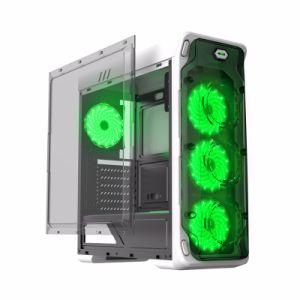 Gamemax Starlight 컴퓨터 상자, Transprant 측 및 전면 패널은 Bringt LEDs 팬으로 온다