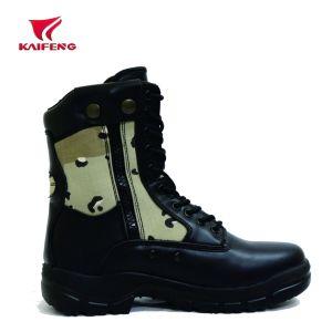 Camuflaje de cuero auténtico botas militares