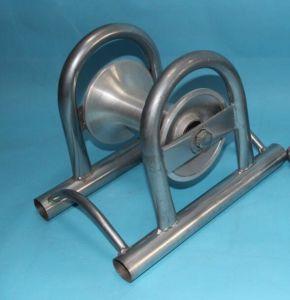 160*165 linea retta rotella della puleggia del cavo, rullo d'acciaio del cavo