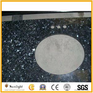 Parte superiore blu Polished Vanitytops della stanza da bagno del granito della perla di alta qualità