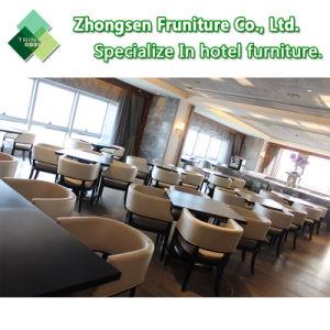 Mobilia di legno moderna della presidenza della Tabella del cuoio del tessuto del metallo di adattamento per il caffè della barra della sala da pranzo del ristorante dell'hotel