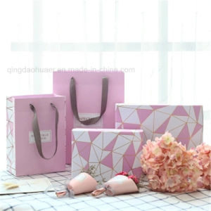 뚜껑을%s 가진 호화스러운 분홍색 주문 로고 마분지 Clothes& Jewelry&Wallet 선물 상자