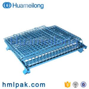 Capacetes de aço soldadas malha metálica gaiolas de armazenagem no depósito