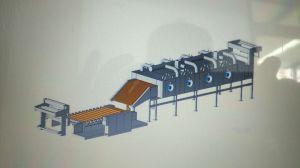 自動回転式スクリーンの印字機の織物の染まる機械装置