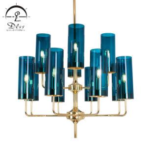 Nouveau Bleu Cognac lustre en verre de vérin de Noël de l'éclairage