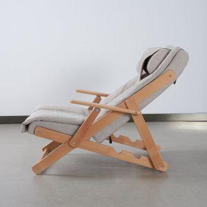 Poids léger ajustable&pliable fauteuil de massage en bois d'inclinaison