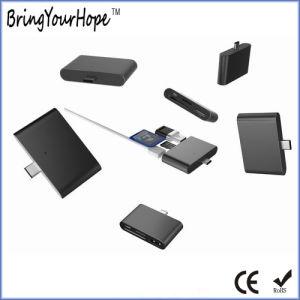 Moyeu de type-C du connecteur mâle à USB/SD/TF et de la Micro-USB (XH-Moyeu-011)