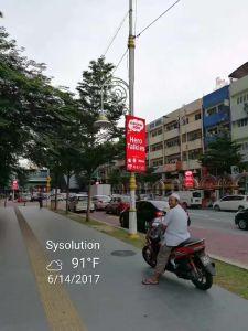 P5 Outdoor Rue lumière intelligente Pole affichage LED