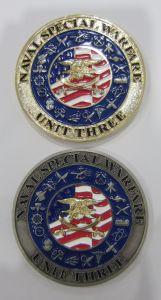 Goldweiche emaillierte Metallherausforderungs-Andenken-Messingmünzen mit Seil-Rand (122)