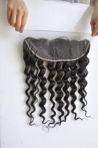 As rendas de cabelo humano virgem no preço grossista Frontal (Onda profundo)