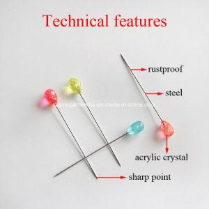 70mmの装飾の多彩なパイナップル形水晶ヘッドPin