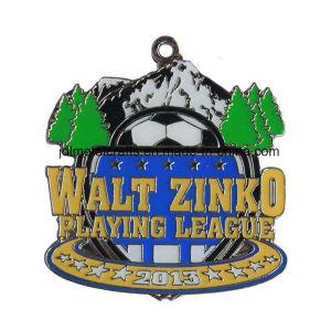 Goldmetalltrophäe-Andenken-Preis-Medaille freie des Entwurfs-Großverkauf-kundenspezifische Firmenzeichen-Zink-Legierungs-runde Mercedes-weiche Decklack-3D mit Farbband für fördernde Geschenke