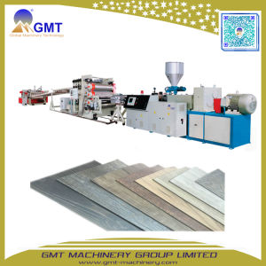 Spc Anti-Scratch suelos PVC plástico de vinilo de enclavamiento de la máquina de extrusión