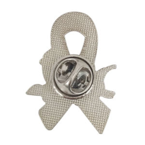 カスタム銀によってめっきされる自閉症意識の困惑部分および手プリントエナメルの折りえりPinの作成