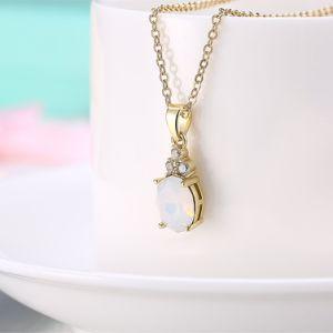 方法女性のOpal宝石類のギフトのためのOpalビーズの吊り下げ式のネックレスの宝石類のファッション小物の方法宝石類