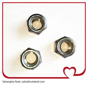 En acier inoxydable 304avec les écrous de blocage hex, UNC en nylon blanc,3/4