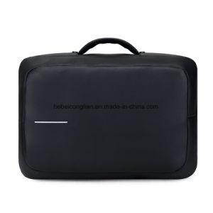 Diebstahlsicherer Art-Aktenkoffer-Notizbuch-Rucksack-Computer-Laptop-Beutel mit USB-Aufladeeinheit