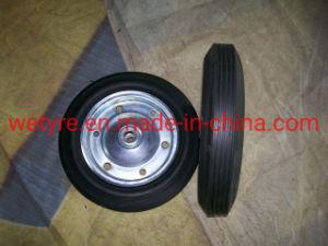 Melhor qualidade de Aro Galvanizado Alta Capacidade de carga sólida a roda de borracha para o mercado europeu (385x80mm)